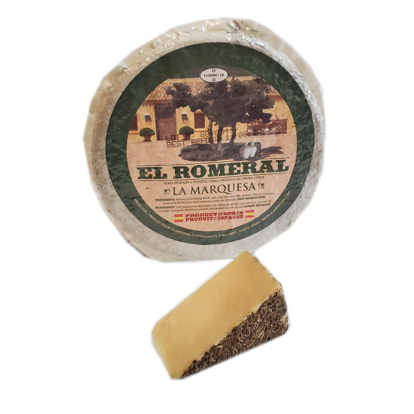 MANCHEGO W/ROSEMARY AGED RM SPAIN